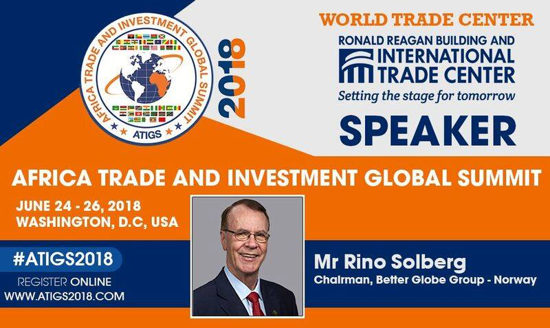 Rino Solberg taler ved AFRICA TRADE AND INVESTMENT GLOBAL SUMMIT